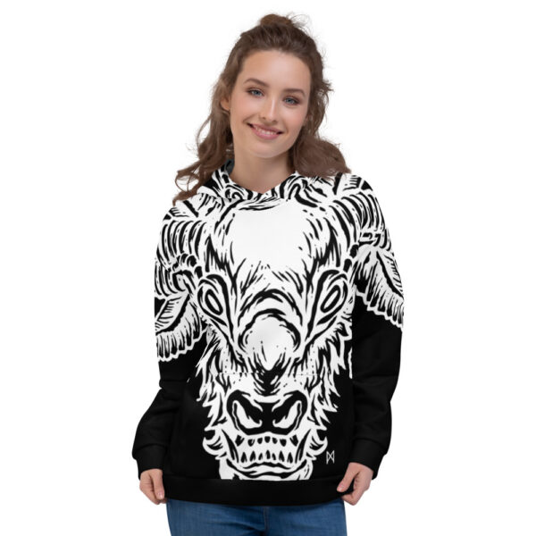 all over print unisex hoodie white front 60b9554acc119