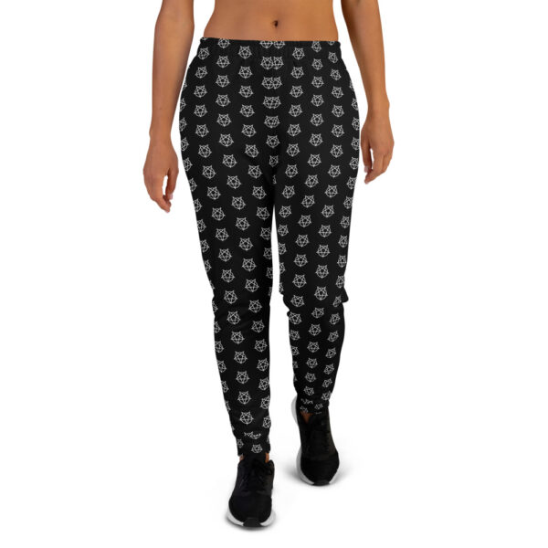 all over print womens joggers white front 60b6a96dd91fa
