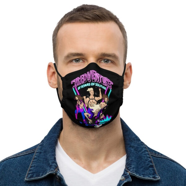 all over print premium face mask black front 61110636cf4b0