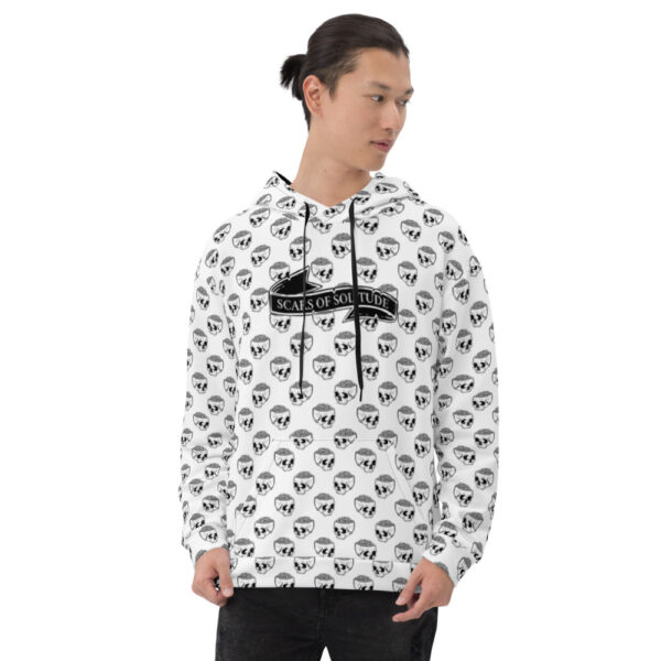 all over print unisex hoodie white front 611d6e47e9237