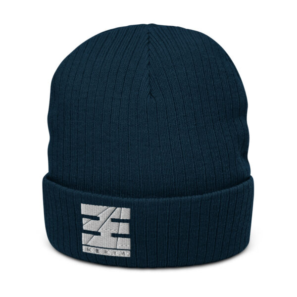 recycled cuffed beanie navy front 616009f2c0052.jpg